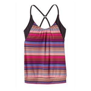 Athleta Swim - Athleta Purple Capri Stripe Blousy Tankini 32 B/C